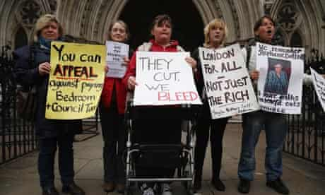 Bedroom tax challenge at The high court