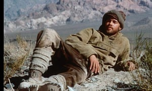 Actor Brad Pitt as Heinrich Harrer in Seven Years in Tibet, the film that cause Annaud to be barred