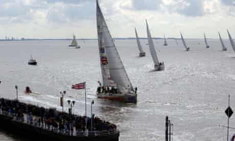 Yachts compete at the Clipper round the world race