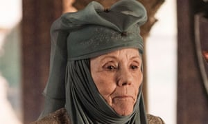 Game of Thrones … Diana Rigg as the Queen of Thorns