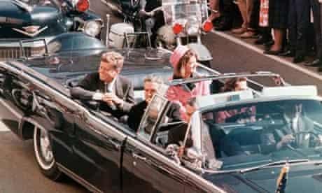 John F Kennedy in Dallas in 1963.