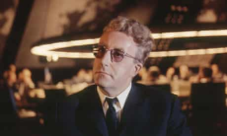 Peter Sellers on the set of Dr Strangelove.