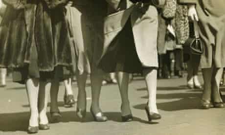 Group of women walking on street