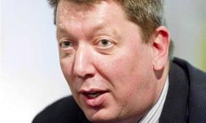 Closeup of Martin Baggs' face
