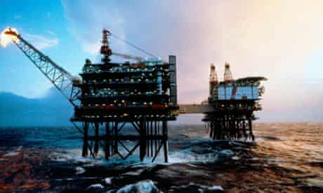 North Sea Oil Platform in stormy weather