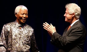 Nelson Mandel and Bill Clinton