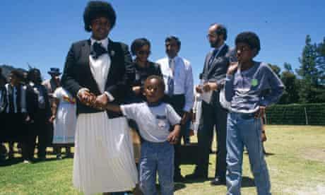 Mandela Family Visiting Nelson Mandela in Prison