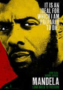 Poster for the forthcoming film about Nelson Mandela – Long Walk To Freedom, starring Idris Elba.
