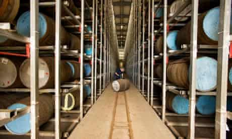 The bonded warehouse at the Glen Keith distillery in Speyside, reopened after 15 years.