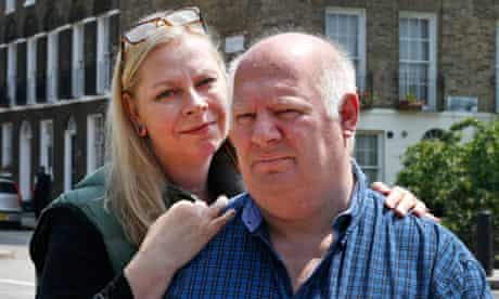 Malcolm Brabant and his wife, Trine Villemann, in London, 2013