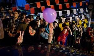 Iranians celebrate Hassan Rohani's win