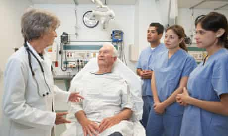 Doctors and patient in hospital