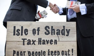 Campaigners dressed as businessmen at a protest in London
