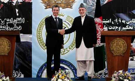 Hamid Karzai, Fogh Rasmussen