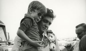 Johnny Cash with his son