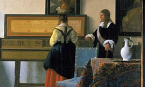 Johannes Vermeer, The Music Lesson, c1662-63, detail