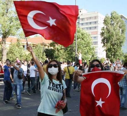 Protesters in Ankara