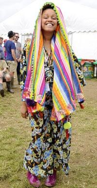 Gemma Cairney grinning at Glastonbury 2013