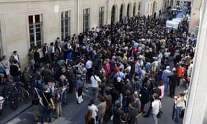 Students from Sciences Po react to news of the attack on fellow student Clement Meric.
