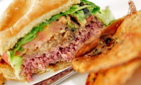 A lion meat burger at Il Vinaio restaurant in Mesa, Arizona