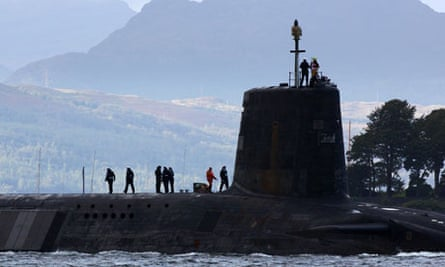 Vanguard submarines with Trident nuclear missiles