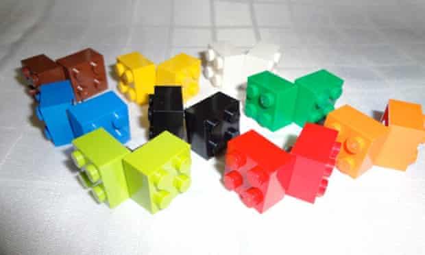 Lego earrings on Etsy