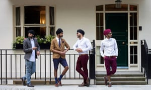 Sikh men pose for the Singh style blog