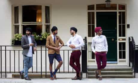 Sikh men pose for the Singh style blog