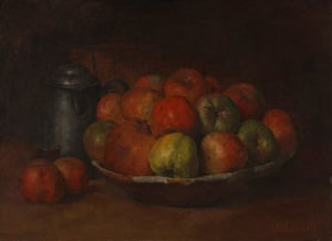 Courbet, Still Life with Apples and a Pomegranate