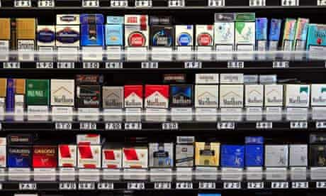 Packets of cigarettes