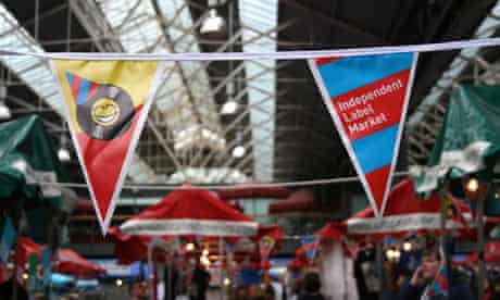 Independent record label market at Spitalfields