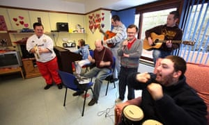 People with learning disabilities at the Tower Drive Daycare Centre in Milton Keynes