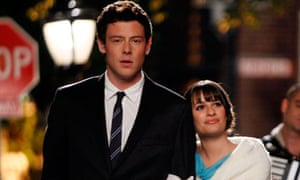 Cory Monteith with co-star Lea Michele in Glee.