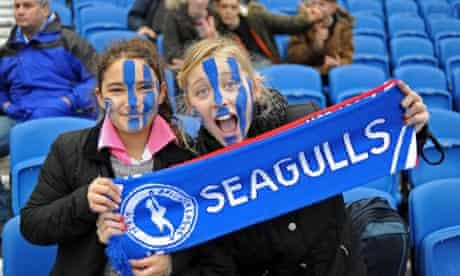 Young Brighton & Hove Albion supporters
