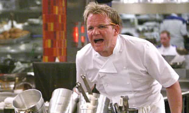 Gordon Ramsay shouting