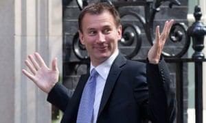 Jeremy Hunt arrives at Downing Street, London