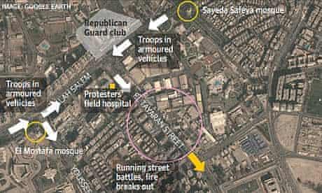 Cairo massacre map