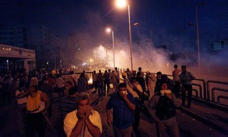Cairo massacre running