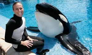 SeaWorld trainer Dawn Brancheau with killer whale