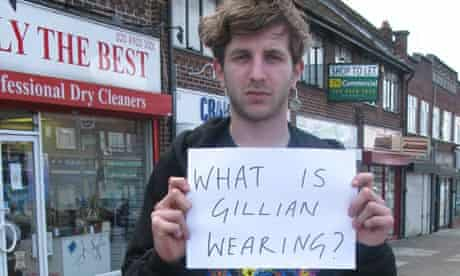 What is Gillian Wearing - sign held by Hayden Kays