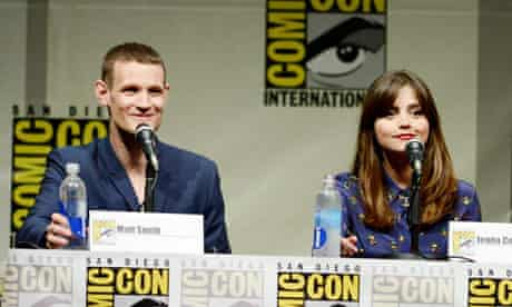 Matt Smith and Jenna-Louise Coleman at the Comic Con Doctor Who panel