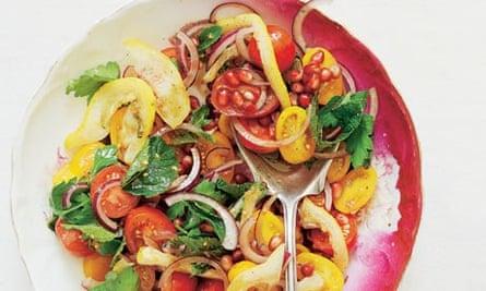 tomato roasted lemon salad