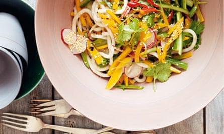 Butternut tataki and udon noodle salad