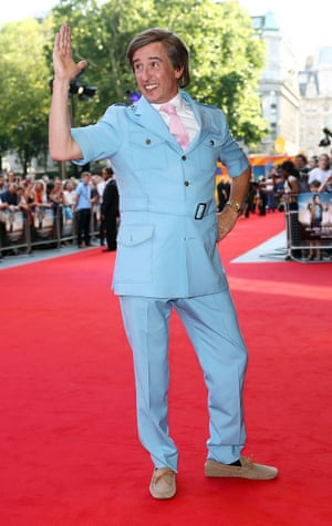 226a32cfe106 A-Ha! Alan Partridge dazzles at Alpha Papa premiere in baby-blue ...