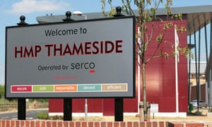 HMP Thameside … operated by Serco.