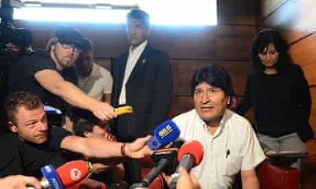 Evo Morales at Schwechat airport