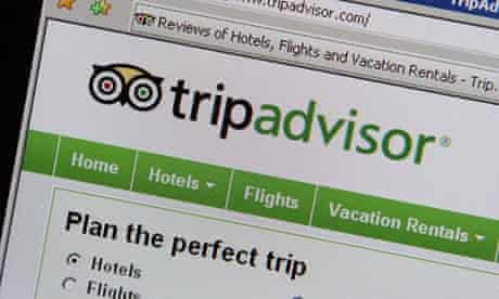TripAdvisor website screengrab