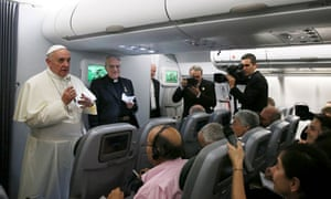 Pope Francis' press conference aboard his flight back to Rome.