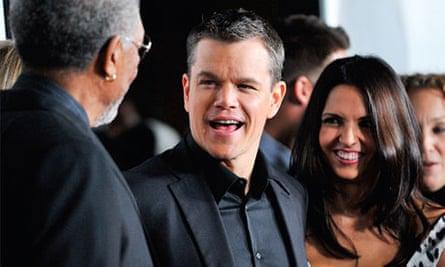 Matt Damon and wife