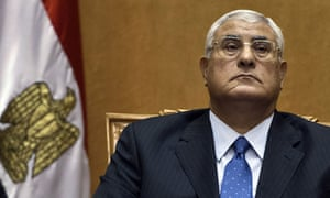Egypt's new interim president Adly Mansour